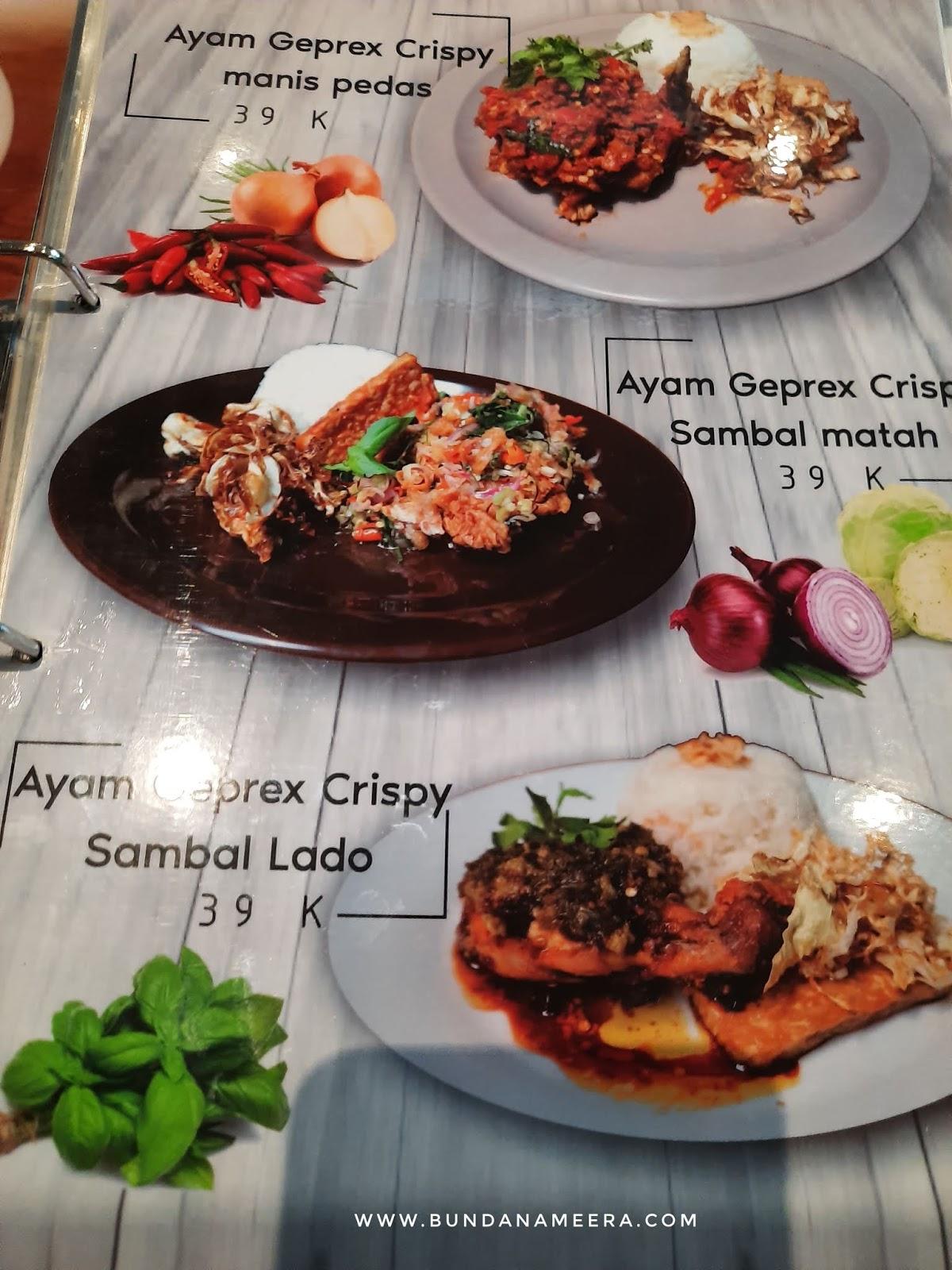 menu di Ngodoel Cimahi, tempat nogkrong asik di Cimahi, Menu makanan di Cafe Ngodul Cimahi
