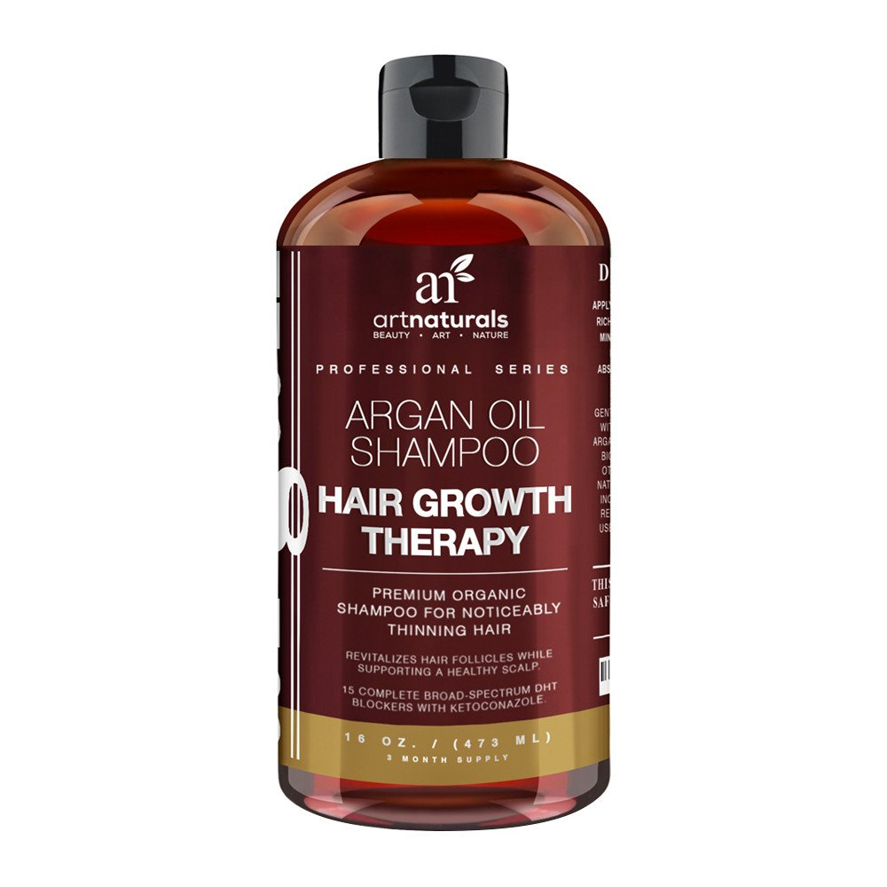1df8467beb1ec5 Art Naturals Argan Oil Shampoo for Hair Growth Therapy is a premium organic  shampoo for noticeably thinning hair. It contains Aloe Vera, White Willow  Bark, ...