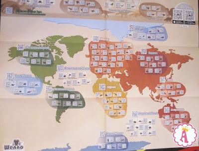 Подробная карта животного мира Венно