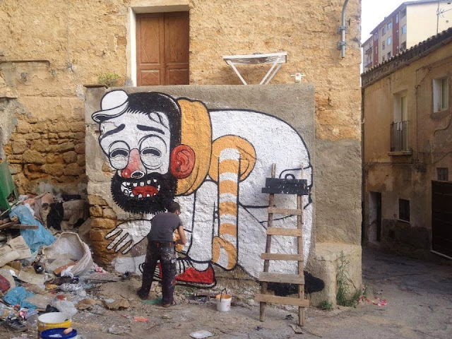 """Trash Only Salvation"" New Street Art Piece By Mr Thoms In Sicily, Italy. 2"