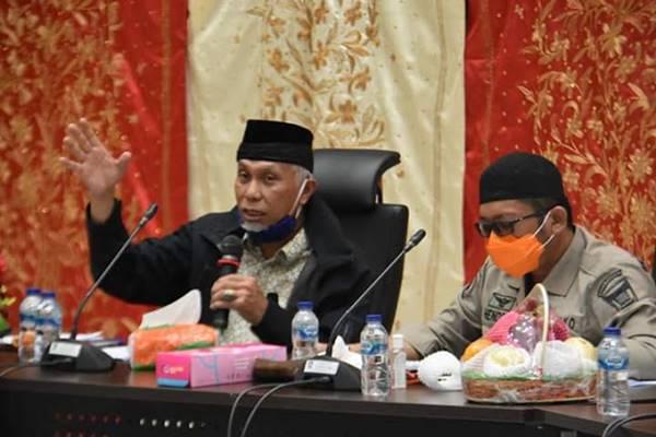 Walikota Padang, Mahyeldi Pimpin Rapat Gugus Tugas Percepatan Penanganan Covid-19