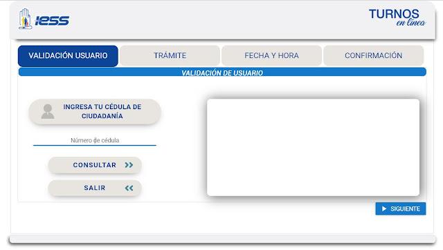 Ingresa tu número de cédula y da clic en Consultar y luego en  Siguiente.