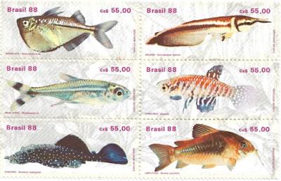 Selos Peixes Brasileiros de Água Doce, 1988