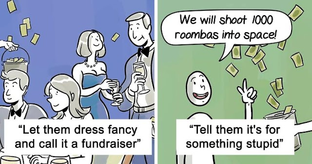 Funny Illustrations Show How To Trick The Rich Into Paying Their Taxes, By Disguising Them As Various Things
