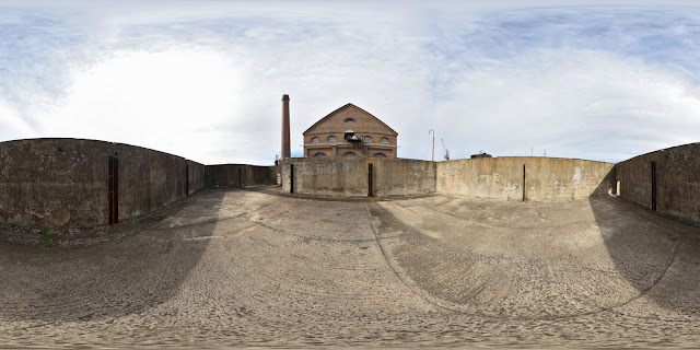 Rope store on cockatoo island photographed as a 360 panorama