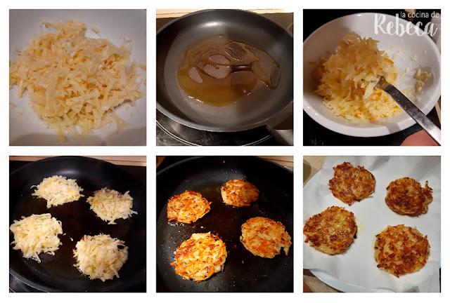 Receta de rösti: la fritura de las tortitas