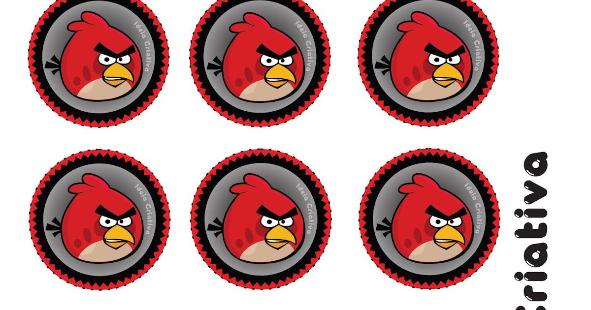 Toppers Personagens Angry Birds: Convites De Aniversário E Festas Infantis.: Toppers Para