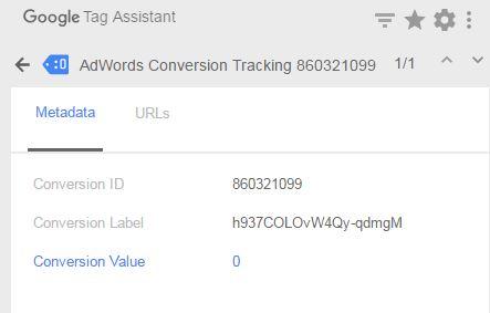 使用Tag assistant檢查是否有正確觸發Adwords轉換