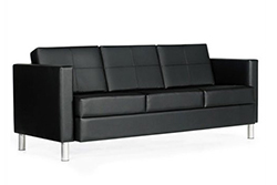 Citi leather sofa by Global Total Office (Wayfair, $1,316.95)