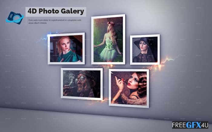 4D Photo Gallery PSD Template