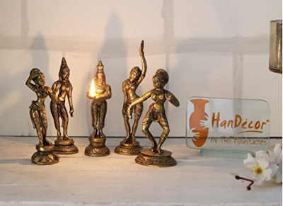 Two Moustaches Brass Apsara Showpieces to Decor Your Place with The Alluring Beauty