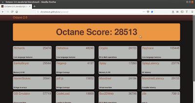 Octane Firefox acelerado