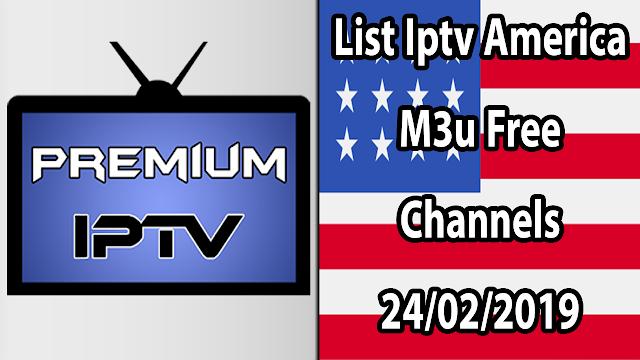 List Iptv America M3u Free Channels 24/02/2019