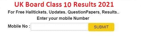 Uttarakhand Board 10th result 2021