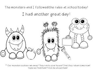 kindergarten rules colouring pages
