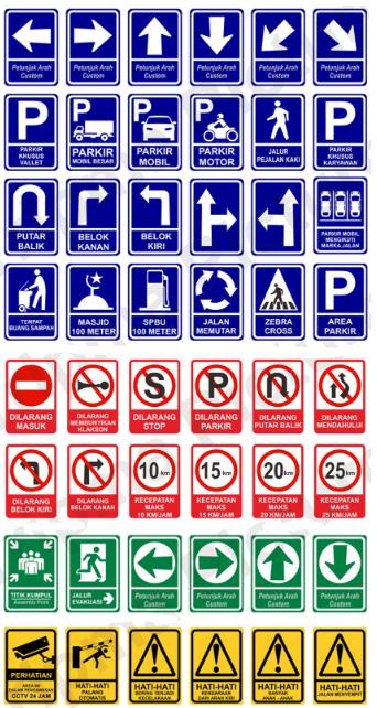 Contoh rambu lalu lintas