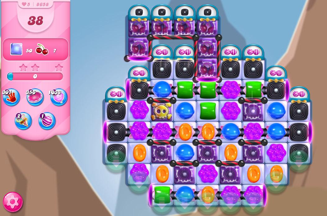 Candy Crush Saga level 8658