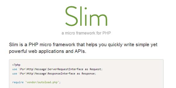 slim php framework