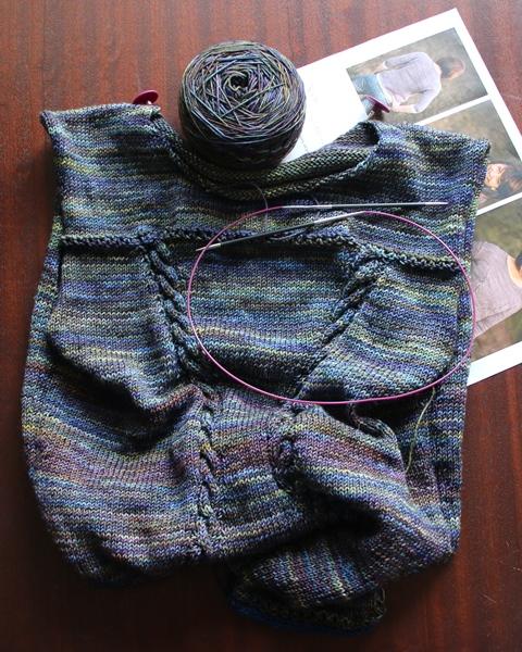 Jesienne nastroje i Malabrigo Sock na moich drutach.