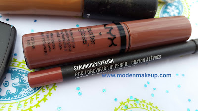 M.A.C Pro Longwear Lip Liner 'Staunchly Stylish' + NYX Butter Gloss 'Praline' - www.modenmakeup.com