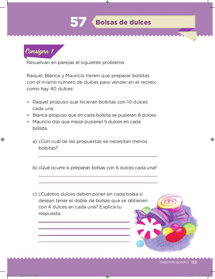 Bolsas de dulces desafios matemáticos 2do bloque 5/2014-2015