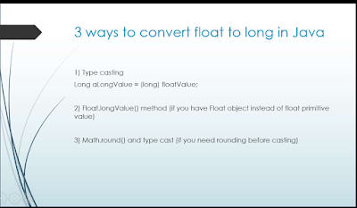 How to convert float to long or int data type in Java?