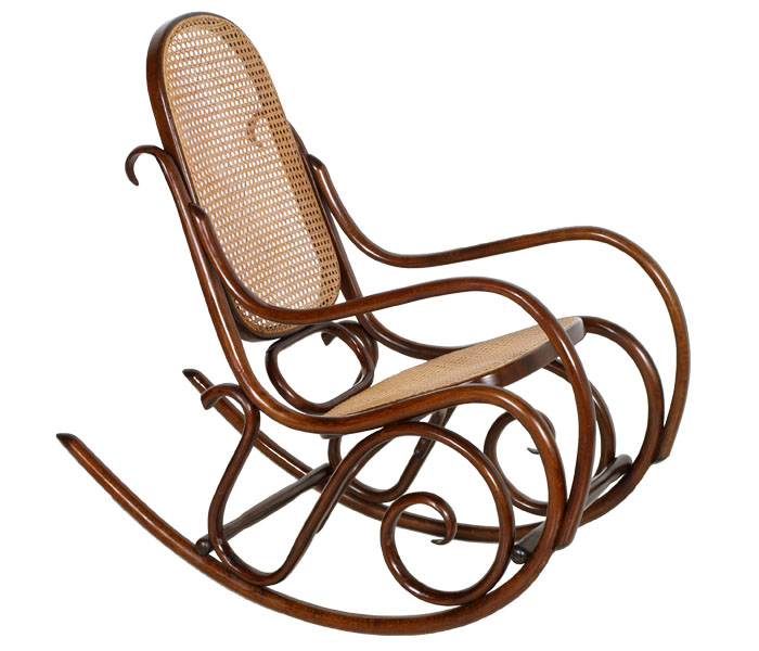 Sedia a dondolo thonet customizzata for Sedie in similpelle