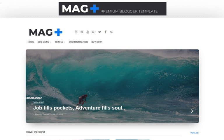 MagPlus Responsive Blogger Template