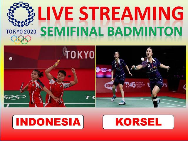 Ayo Nonton Live Streaming Olimpiade Semifinal Badminton Ganda Putri : G. Polii/A. Rahayu (Indonesia) Vs S. Shin/S. Lee (Korsel) Jam 07.50 WIB