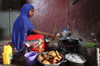 Cooking cassava fritters