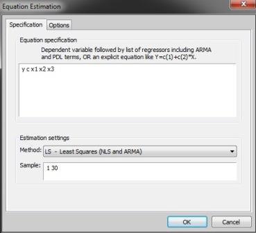 Uji asumsi autokorelasi dengan Eviews