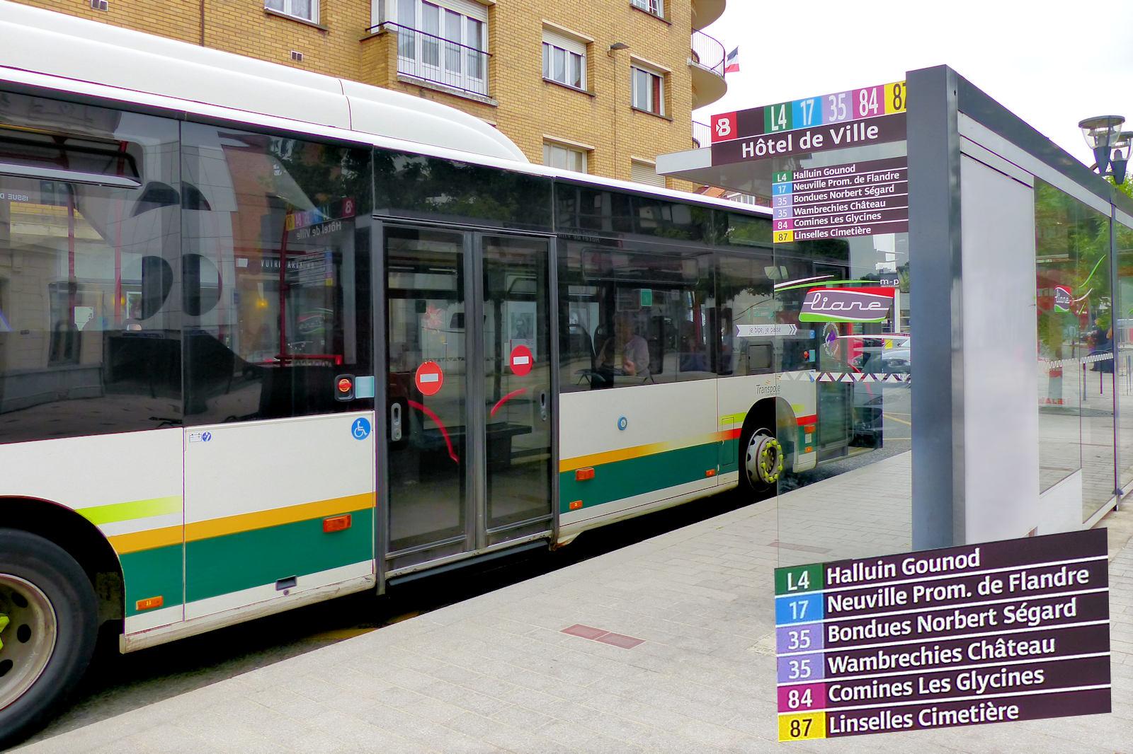 """Arrêt Bus """"Hôtel de Ville"""" - Tourcoing"""