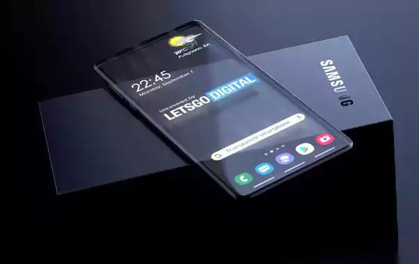 سامسونج هاتف شفاف