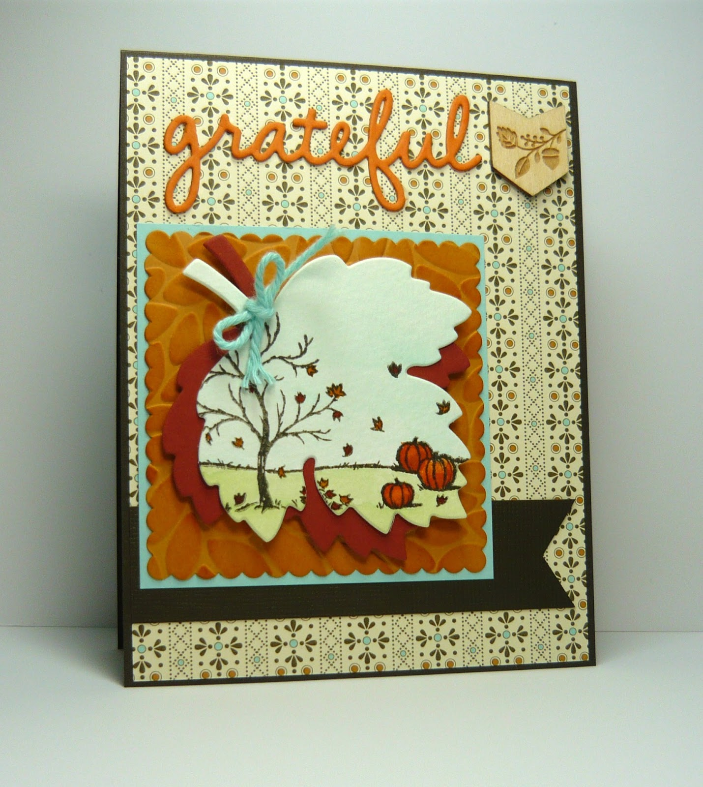 Fall Card Count Your Blessings Card Fall Leaves Card Autumn Leaves Card Happy Fall Card Thanksgiving Card Blank Card