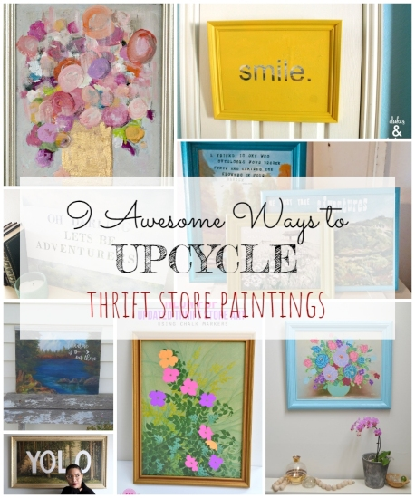 9 Awesome Ways to Upcycle Thrift Store Paintings