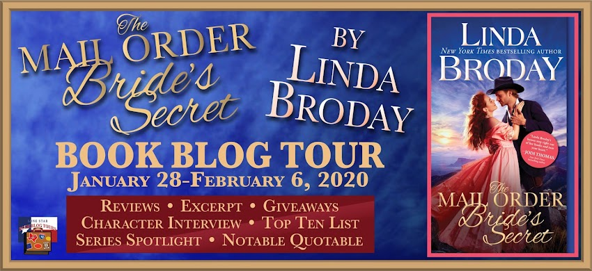 The Mail Order Bride's Secret ~ Lone Star Book Blog Tours Notable Quotable & Giveaway!
