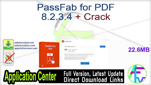 PassFab for PDF 8.2.3.4 + Crack