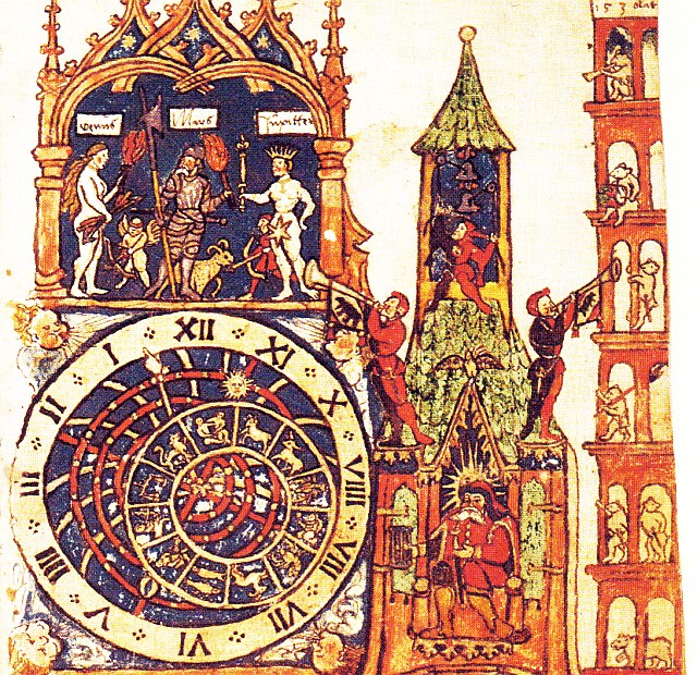 A sketch of the Zytglogge tower and clock from 1534