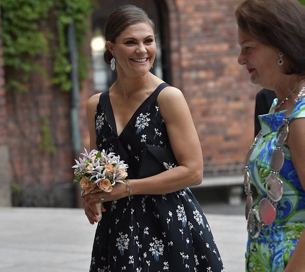 Crown Princess Victoria wore floral dress from Erdem X H&M collaboration collection. Erdem x H&M collection
