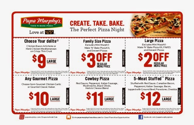 picture regarding Papa Murphy Printable Coupon identified as 100+ Papa Murphy Pizza Discount codes yasminroohi