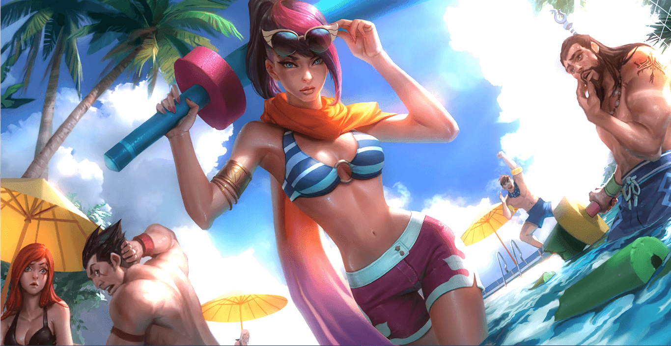 League of Legends - Pool Party Fiora [Wallpaper Engine Free]