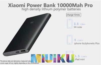 xiaomi mi power bank pro 10000 mah - daftar power bank xiaomi terbaru