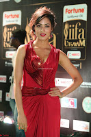 Videesha in Spicy Floor Length Red Sleeveless Gown at IIFA Utsavam Awards 2017  Day 2  Exclusive 41.JPG