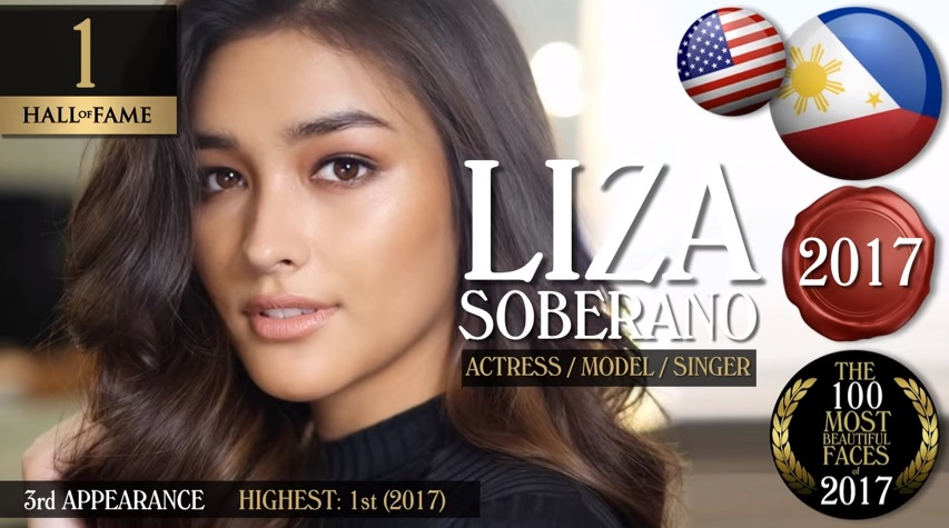 9659f3f12b989a Liza Soberano is TC Candler's World's 100 Most Beautiful Face of 2017,  Other Filipina Celebrities Make Cut-off