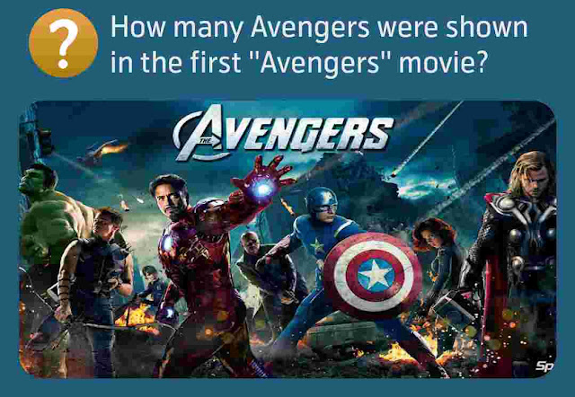 How many Avengers were shown in the first ''Avengers'' movie?