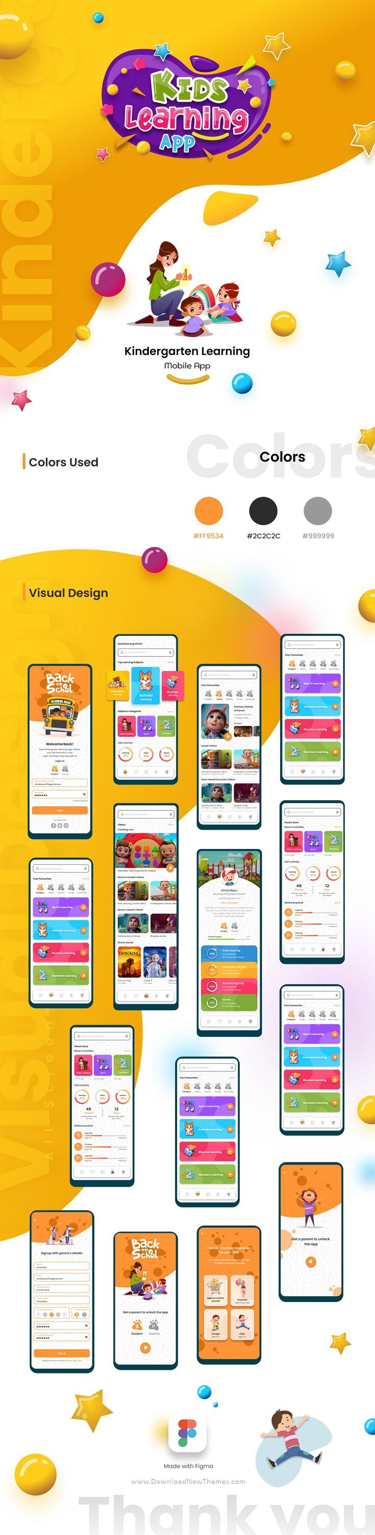 Kids Learning App Figma Template