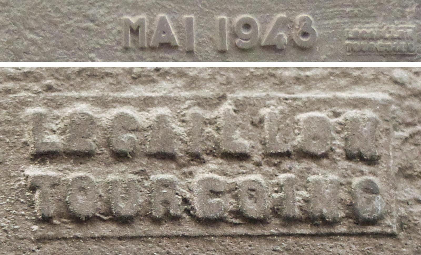 Plaque Lecaillon Tourcoing, 1948 - Ruelle des Madrilles