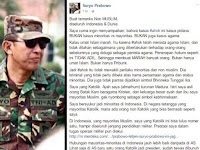 Pesan Menggetarkan Letjen (Purn) Johannes Suryo Prabowo Untuk Kalangan Non MUSLIM Dalam Kasus Ahok