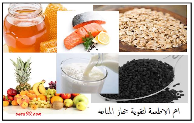 اهم الاطعمة لتقوية جهاز المناعه في جسم الانسان