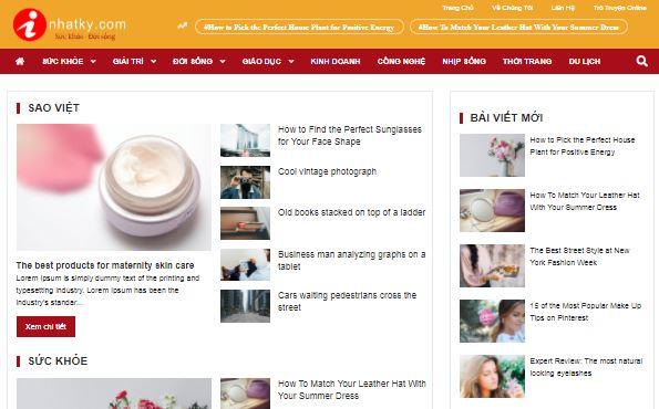 Template blogspot tạp chí tin tức